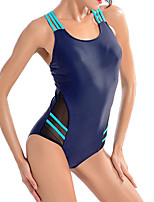 cheap -Women's One Piece Swimsuit Spandex Swimwear Breathable Quick Dry Sleeveless Swimming Surfing Water Sports Patchwork Summer
