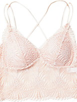 cheap -Women's Wireless 3/4 Cup Bras & Bralettes Solid Color White Black Blushing Pink