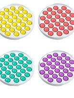 cheap -2 pcs Colorful Fidget Push Pops Bubble Sensory Squishy Stress Reliever Autism Needs Anti-Stress Pop-It Rainbow Adult Children Toys