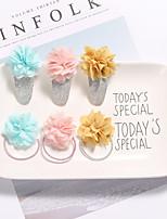cheap -wish pearl chiffon flower hair clip 90405 children bangs clip with accessories baby hair rope hair tie rubber band