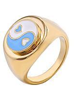 cheap -retro geometric ring sweet flower ring multi-number optional