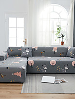 cheap -Print Dustproof Stretch Slipcovers Stretch Sofa Cover Super Soft Fabric Couch Cover Fit For 1 to 4 Cushion Couch And L Shape Sofa (You will Get 1 Throw Pillow Case as free Gift)