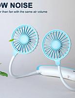 cheap -USB portable fan cold fan hands free neck fan hanging rechargeable mini sports fan 3-speed adjustable neck dual fan Home Office