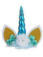 cheap -cross-border new unicorn cake decoration, unicorn birthday cake decoration, baking plug-in dress up accessories
