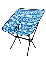 cheap -Camping Chair Portable Ultra Light (UL) Multifunctional Foldable Aluminum Alloy for 1 person Fishing Beach Camping Traveling Autumn / Fall Winter Blue / Breathable / Comfortable