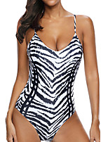 cheap -Women's One Piece Swimsuit Spandex Swimwear Bodysuit Breathable Quick Dry Sleeveless Swimming Surfing Water Sports Summer