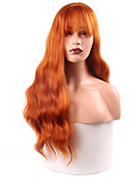 cheap -Synthetic Wig Deep Wave Neat Bang Wig Medium Length A1 Synthetic Hair Women's Cosplay Party Fashion Blonde