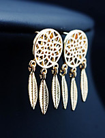 cheap -Women's AAA Cubic Zirconia Earrings Geometrical Dream Catcher Stylish Artistic Luxury Trendy Korean Gold Plated Earrings Jewelry Golden / Silver For Christmas Gift Daily Work Festival 1 Pair