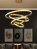 cheap -LED Pendant Light 4 Rings 80 cm Gold Circle Desgin Aluminum 110-120V 220-240V
