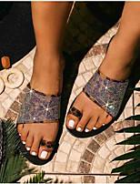 cheap -Women's Slippers & Flip-Flops Flat Heel Open Toe Suede Solid Colored Black Gold