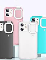 preiswerte -Telefon Hülle Handyhüllen Für Apple Rückseite iPhone 12 iPhone 11 iPhone 12 Pro max iPhone 11 Pro iPhone 11 Pro Max iPhone 12 Pro Stoßresistent Staubdicht Mit Fülllicht Solide PC