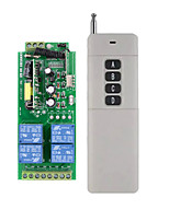 cheap -AC85V-260V 4CH 4 Channel 10A Relay RF Wireless Remote Control Switch System  433 MHz Transmitter And Receiver /light ON OFF Switch