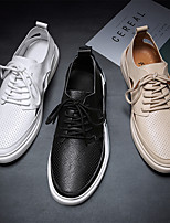 cheap -Men's Oxfords Casual Beach Daily Walking Shoes Nappa Leather Breathable Non-slipping Wear Proof White Black Khaki Summer