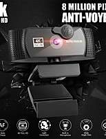 cheap -PC Webcam With Microphone 4K Full HD 1080P Widescreen Computer Game Video Work WebCamera Rotatable USB Web Camera Cam