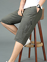 "cheap -Men's Hiking Shorts Hiking Cargo Shorts Summer Outdoor 12"" Ripstop Quick Dry Zipper Pocket Breathable Cotton Knee Length Bottoms Yellow Black Dark Gray Light Grey Work Hunting Fishing XL XXL XXXL 4XL"