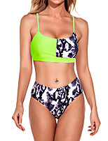 cheap -Women's Tankini Swimwear Breathable Quick Dry Sleeveless 2 Piece - Swimming Surfing Water Sports Summer
