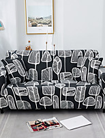 cheap -Gray Leaves Print Dustproof All-powerful  Stretch Sofa Cover Super Soft Fabric r with One Free Boster Case