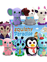 cheap -Jumbo Squishies Slow Rising 8 Pack Animal Squishy Toys Cream Scented Squishies Pack Stress Relief Super Soft Squeeze Kawaii Cute Squishy Slow Rising for Kids