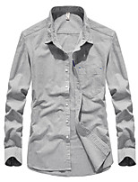 cheap -Men's Hiking Jacket Hiking Shirt / Button Down Shirts Long Sleeve Shirt Coat Top Outdoor Quick Dry Lightweight Breathable Sweat wicking Autumn / Fall Spring Light Blue White Navy Blue Hunting Fishing