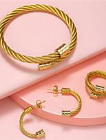 cheap -titanium steel bracelet, ring and earring set, women's  fashion bracelets