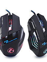 cheap -ergonomic wired gaming mouse 7 button led 5500 dpi usb computer mouse gamer mice x7 silent mause with backlight for pc laptop