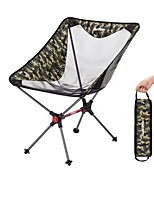 cheap -Camping Chair Multifunctional Portable Breathable Ultra Light (UL) Aluminum Alloy for 1 person Fishing Beach Camping Traveling Autumn / Fall Winter Black Camouflage Khaki