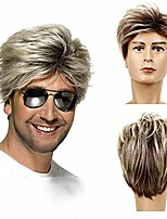cheap -80's Men's Wig Blond Short George Wig Synthetic Cosplay Costume Halloween Wig Suitable For Masquerade