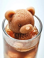 cheap -3D Teddy Bear Ice Cube Mold 2 Pieces Set Tiktok Bear Silicone Animal Mold Soap Candle Mold Ice Cube for Coffee Milk Tea Candy Gummy Fondant Cake Baking Cupcake Topper Decoration