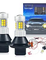 cheap -2PCS/set P21W Ba15s BAU15S PY21W 7440 W21W WY21W T20 1156S25 30led  Daytime Running LightTurn Signal Dual Mode DRL LED External Lights