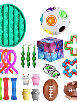 cheap -23 pcs Fidget Toys Set Anti Stress Push Pop Bubble Box Strings Marble Relief Gift Adults Children Relief Figet Toys