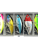 cheap -5 pcs Lure kit Fishing Lures Vibration / VIB lifelike 3D Eyes Sinking Bass Trout Pike Lure Fishing Freshwater and Saltwater