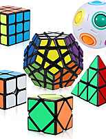 cheap -QiYi Cube Set Puzzle Cube6 Pack Magic Cube Bundle - 2x2x2 3x3x3 Pyraminx Pyramid Megaminx Skew Cube Magic Rainbow Ball Collection Puzzle Toy for Children Adults.
