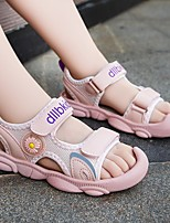 cheap -Girls' Sandals Comfort Flower Girl Shoes Princess Shoes PU Big Kids(7years +) Daily Home Walking Shoes Flower Pink Green Spring Summer