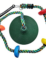 cheap -Tree Swing Multicolor Climbing Rope with Platforms Kids Disc Swings Seat Set Outdoor Backyard Playset Accessories