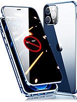 cheap -Magnetic Adsorption Case for iPhone 12 Pro Max iPhone 11 Pro Max Tempered Glass Full Screen Protector Clear Cover with Camera Protection for Samsung Galaxy S21 Ultra S21 Plus S20 Plus Note 20