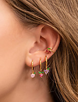 cheap -zirconium earrings grape cherry pineapple fruit earrings earrings