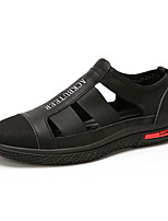 cheap -Men's Sandals Beach Daily Outdoor Nappa Leather Breathable Non-slipping Wear Proof Black Spring Summer