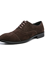cheap -Men's Oxfords Brogue 2021 Business Classic British Daily Office & Career Leather Breathable Non-slipping Wear Proof Black Brown Spring Summer