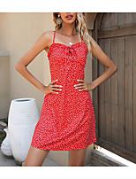 cheap -Women's A Line Dress Short Mini Dress Wine Sleeveless Print Summer Sexy 2021 S M L XL