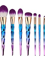 cheap -makeup brushes set 7pcs foundation blending blush concealer eye face liquid powder cosmetics set premium electroplated handle (purple)