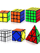 cheap -QiYi Speed Cube Set, Magic Speed Cube Bundle 2x2 3x3 4x4 Pyramid Mirror Skewb Cube, Smooth Sticker Cubes Collection Puzzle Toy for Children Adults, Pack of 6
