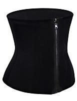 cheap -Women's Zipper Underbust Corset - Curve / Sexy / Fashion, Sporty / Zipper Black S M L