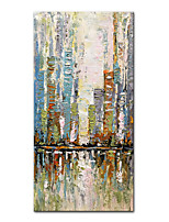 cheap -Mintura Large Size Hand Painted City Landscape Oil Painting On Canvas Modern Abstract Art Wall Picture For Home Decoration (Rolled Canvas without Frame)