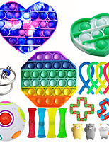 cheap -20 pcs Fidget Sensory Toy Set Stress Relief Toys Autism Anxiety Relief Stress Pop Bubble Fidget Sensory Toy For Kids Adults