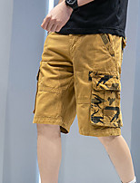 """cheap -Men's Hiking Shorts Hiking Cargo Shorts Military Camo Summer Outdoor 12"""" Ripstop Quick Dry Multi Pockets Breathable Cotton Knee Length Bottoms Army Green Blue Orange Khaki Work Hunting Fishing 28 29"""