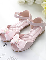 cheap -Girls' Sandals Flower Girl Shoes Princess Shoes Microfiber Little Kids(4-7ys) Big Kids(7years +) Daily Party & Evening Rhinestone Pearl Flower Pink Ivory Spring Summer