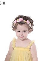 cheap -amazon multicolor stitching simulation fabric rose baby hair accessories children's nylon headband with elastic photo props