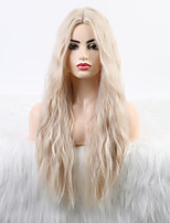 cheap -Synthetic Wig Curly Neat Bang Wig Long Light Blonde Synthetic Hair 24 inch Women's Fashionable Design New Arrival Blonde