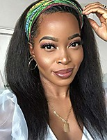 cheap -Kinky Straight Headband Wig Human Hair Glueless Headband Wigs for Black Women None Lace Front Human Hair Wigs 150% Density 12-30 inch