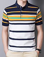 cheap -Men's T shirt Hiking Tee shirt Hiking Polo Shirt Short Sleeve Tee Tshirt Top Outdoor Quick Dry Lightweight Breathable Sweat wicking Autumn / Fall Spring Summer Elastane Cotton White Yellow Red